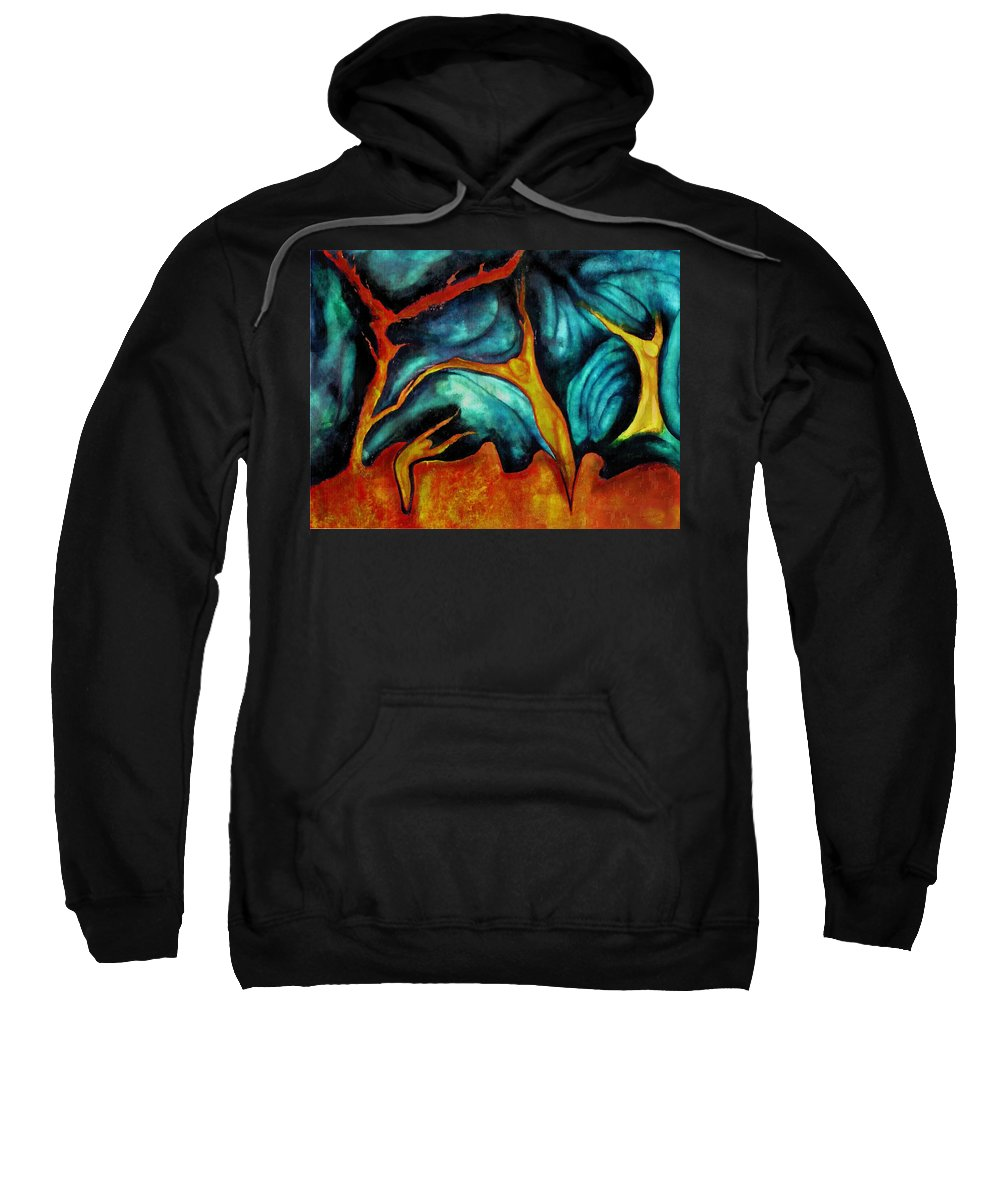 Soul Expression Words Thoughts Mind Connection Sweatshirt featuring the painting Untitled by Veronica Jackson