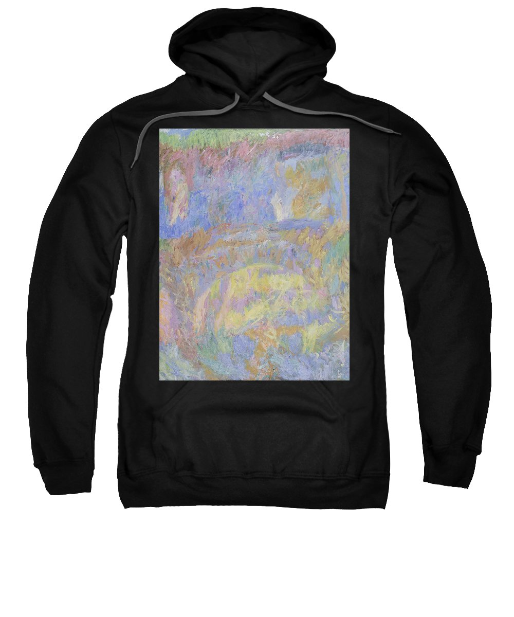 Summer Sweatshirt featuring the painting Wall by Robert Nizamov