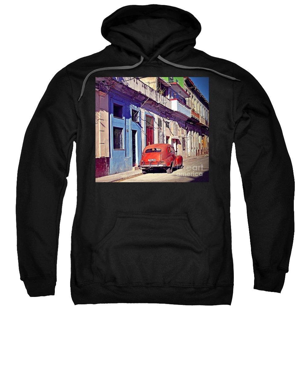 Havana Sweatshirt featuring the photograph Havana Cuba by Chris Andruskiewicz