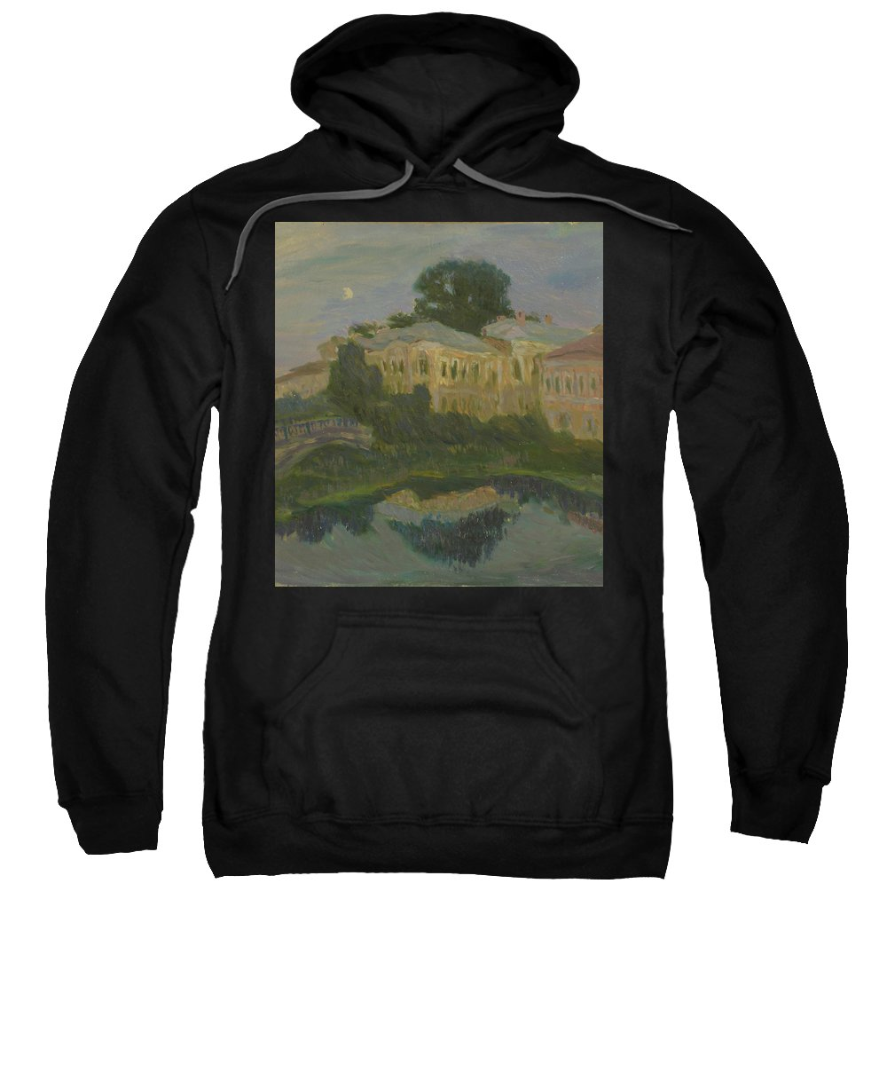 River Sweatshirt featuring the painting Landscape by Robert Nizamov