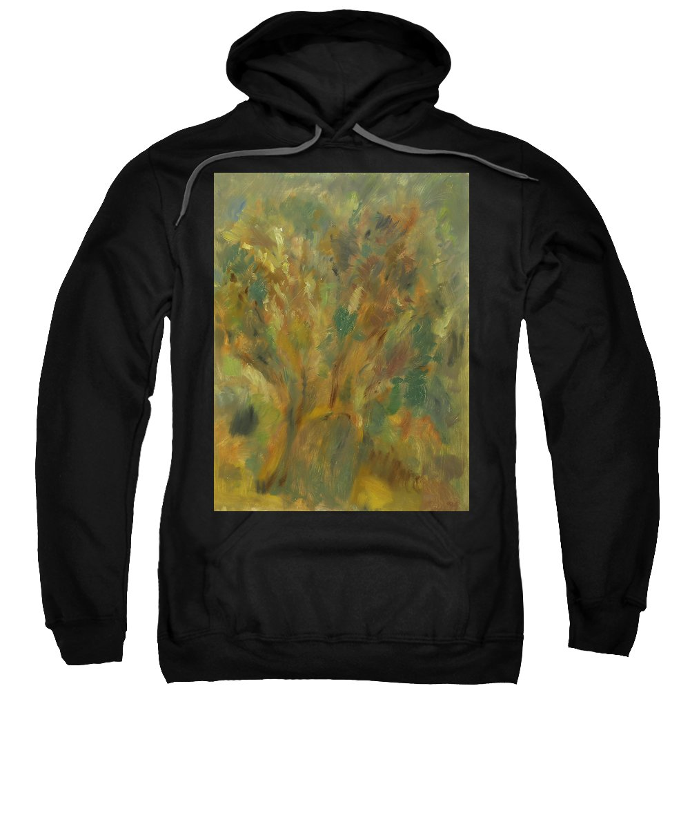 Sunlight Sweatshirt featuring the painting Tree by Robert Nizamov