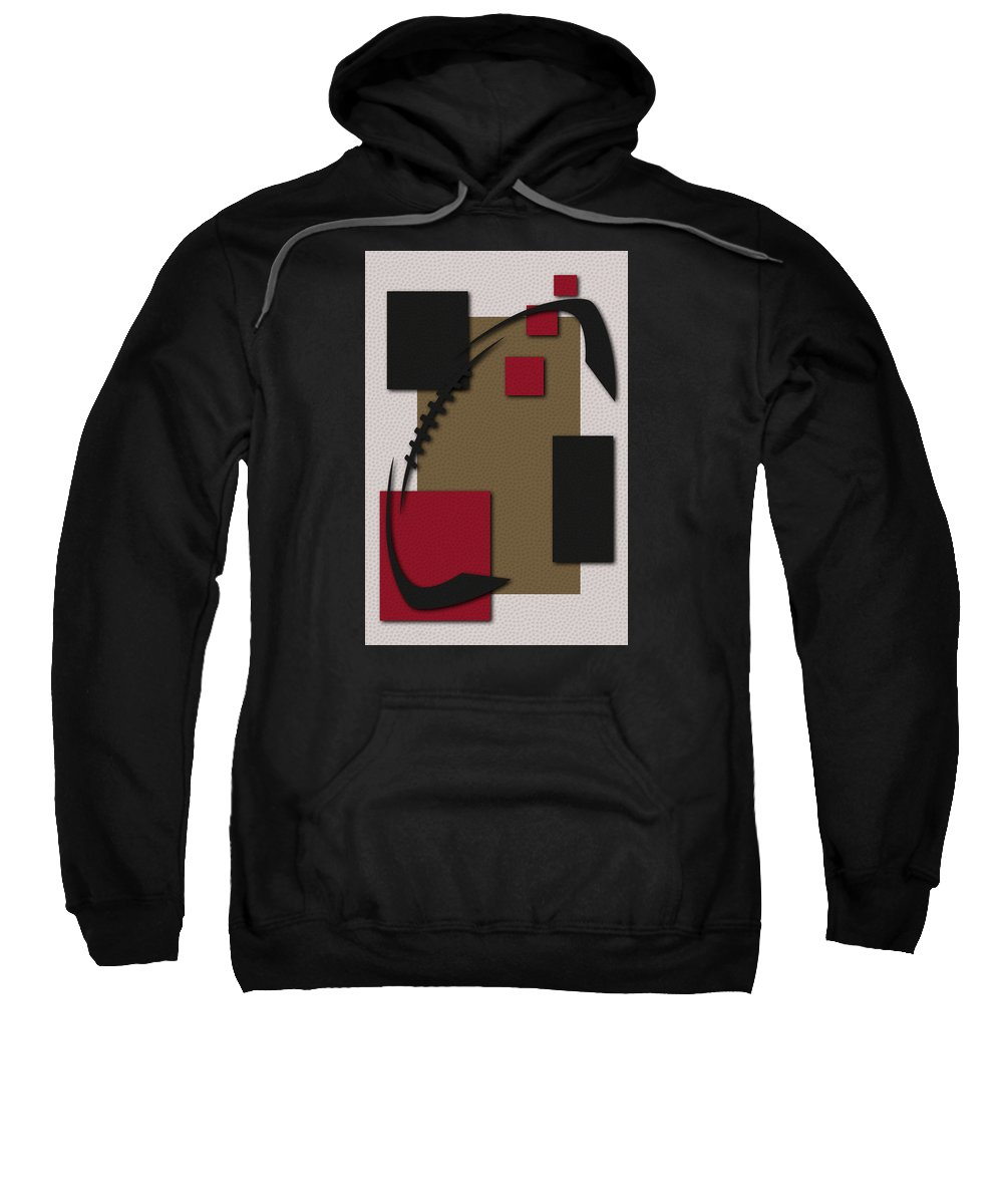 49ers Sweatshirt featuring the photograph 49ers Football Art by Joe Hamilton