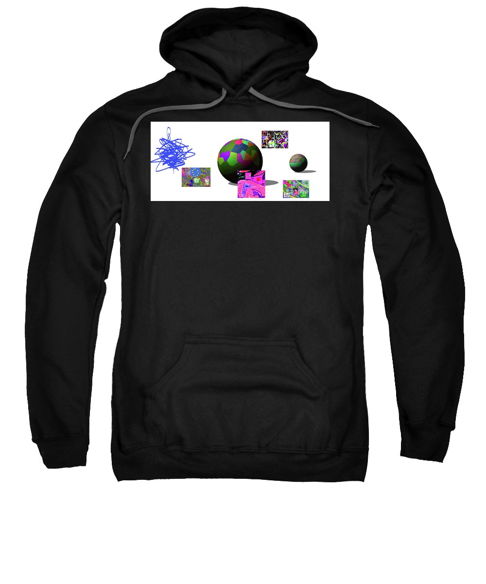 Walter Paul Bebirian Sweatshirt featuring the digital art 5-30-02015abcde by Walter Paul Bebirian