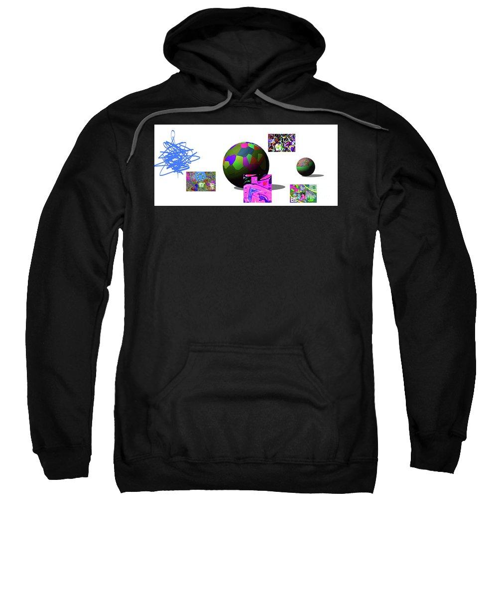 Walter Paul Bebirian Sweatshirt featuring the digital art 5-30-02015abcdef by Walter Paul Bebirian