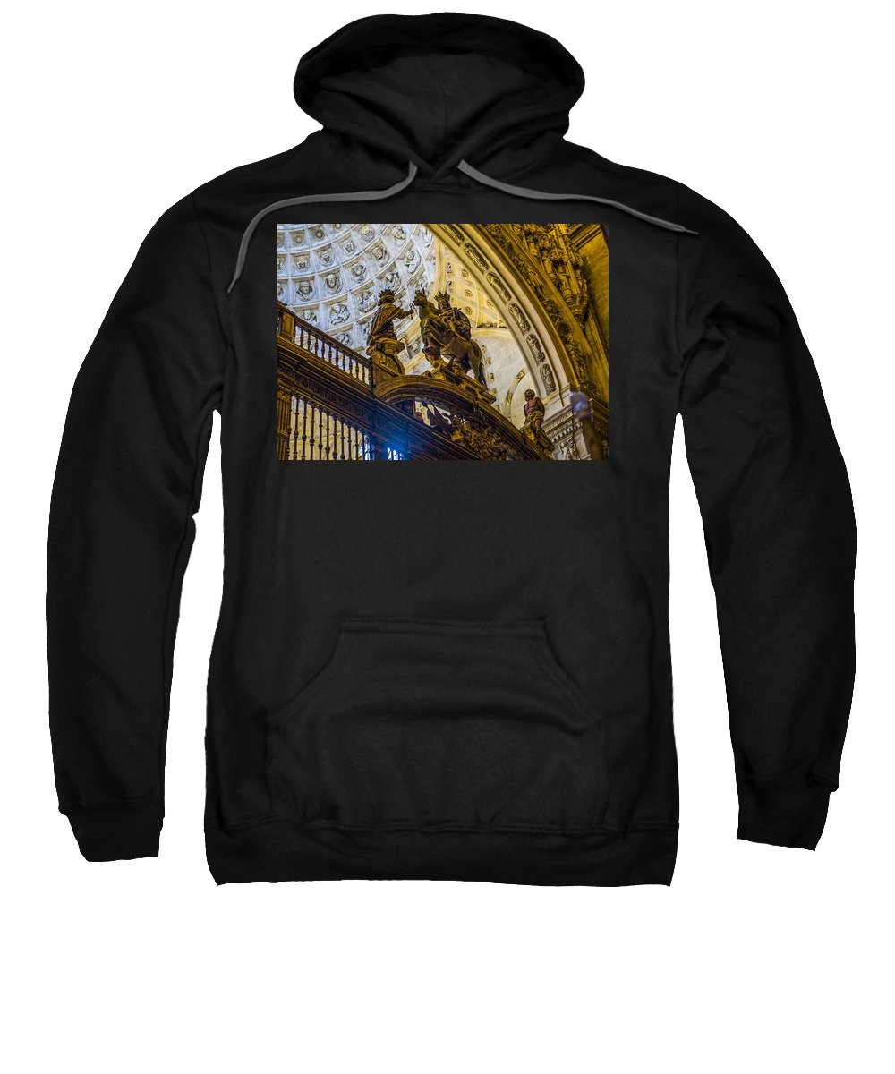 Cathedral Of Seville Sweatshirt featuring the photograph Cathedral Of Seville - Seville Spain by Jon Berghoff