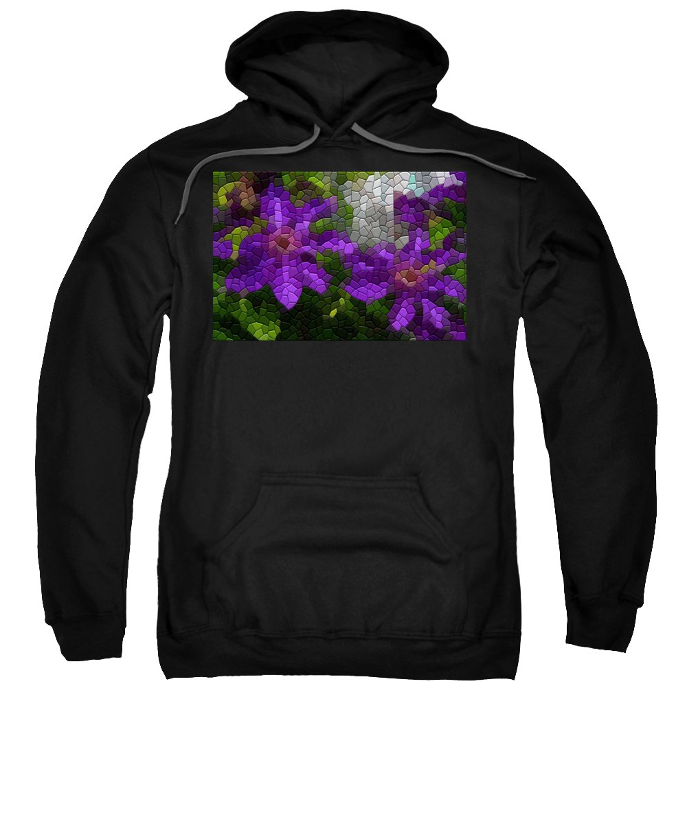 Clematis Sweatshirt featuring the photograph Clematis by Kathryn Meyer