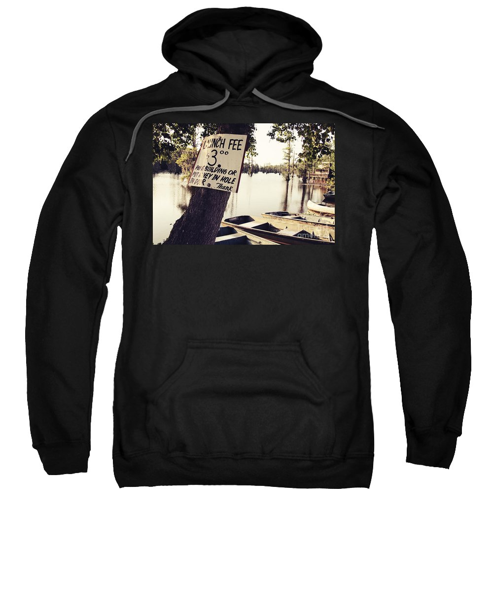 Launch Fee Sweatshirt featuring the photograph Launch Fee - Toned by Scott Pellegrin