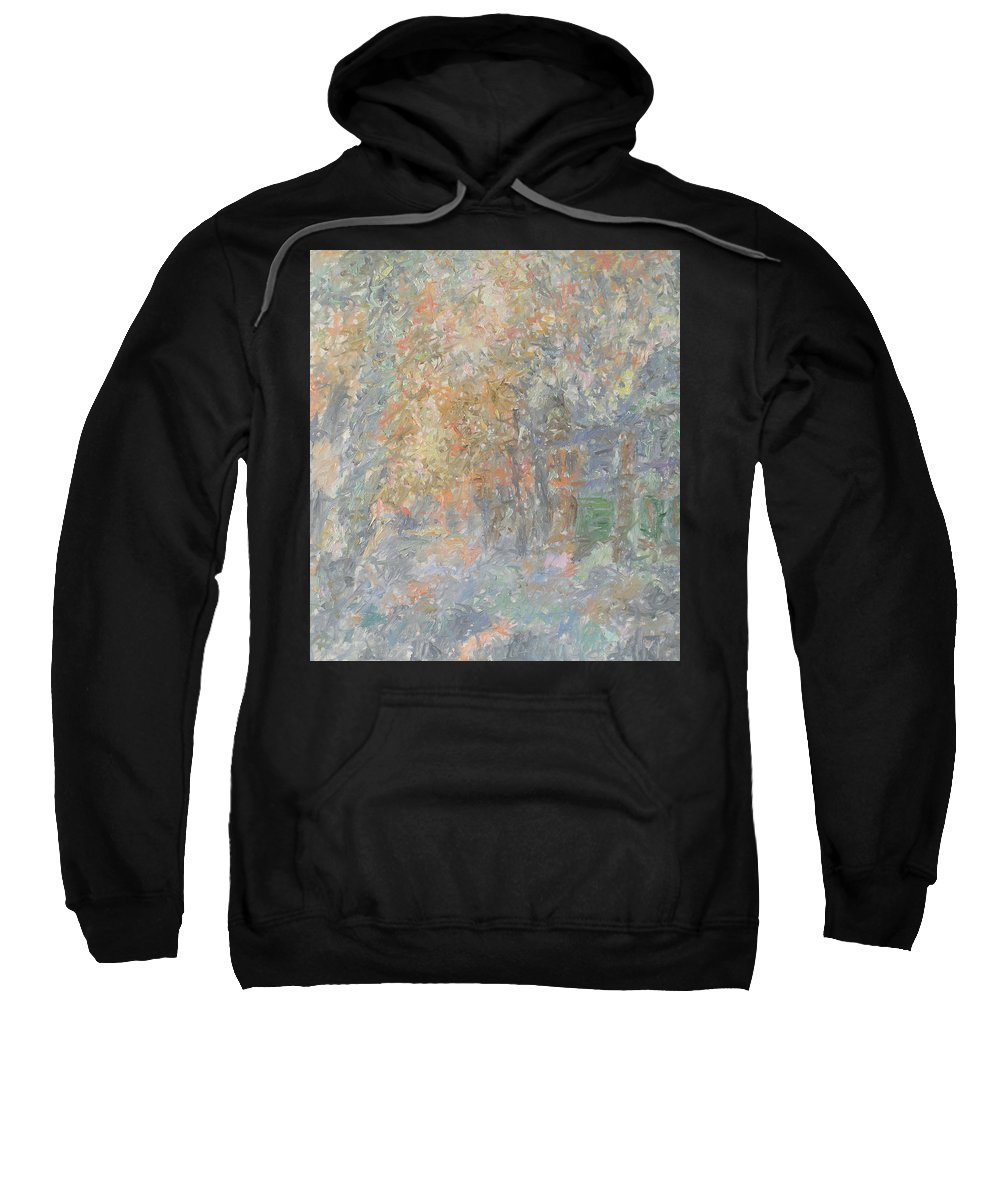 Snow Sweatshirt featuring the painting Winter by Robert Nizamov