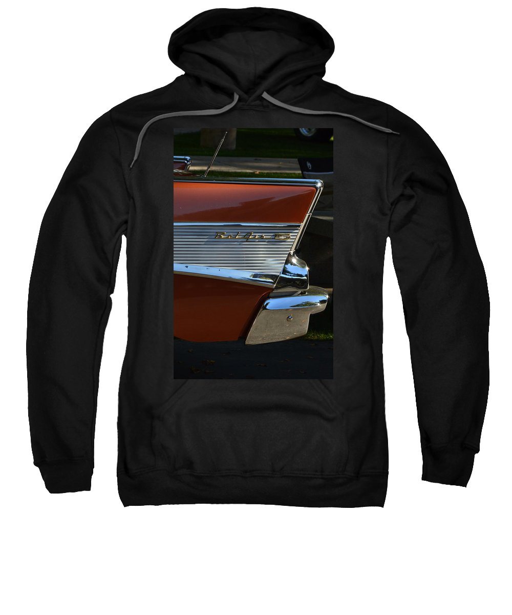 Sweatshirt featuring the photograph 57 Chevy Fin by Dean Ferreira