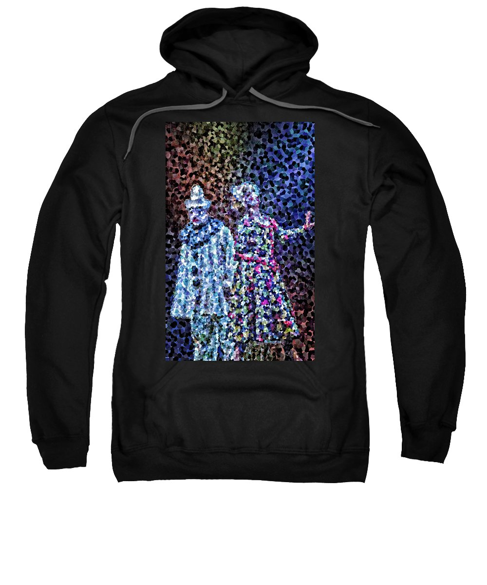 Pagliacci Sweatshirt featuring the digital art The Pain Of A Clown by Patrick Meyer