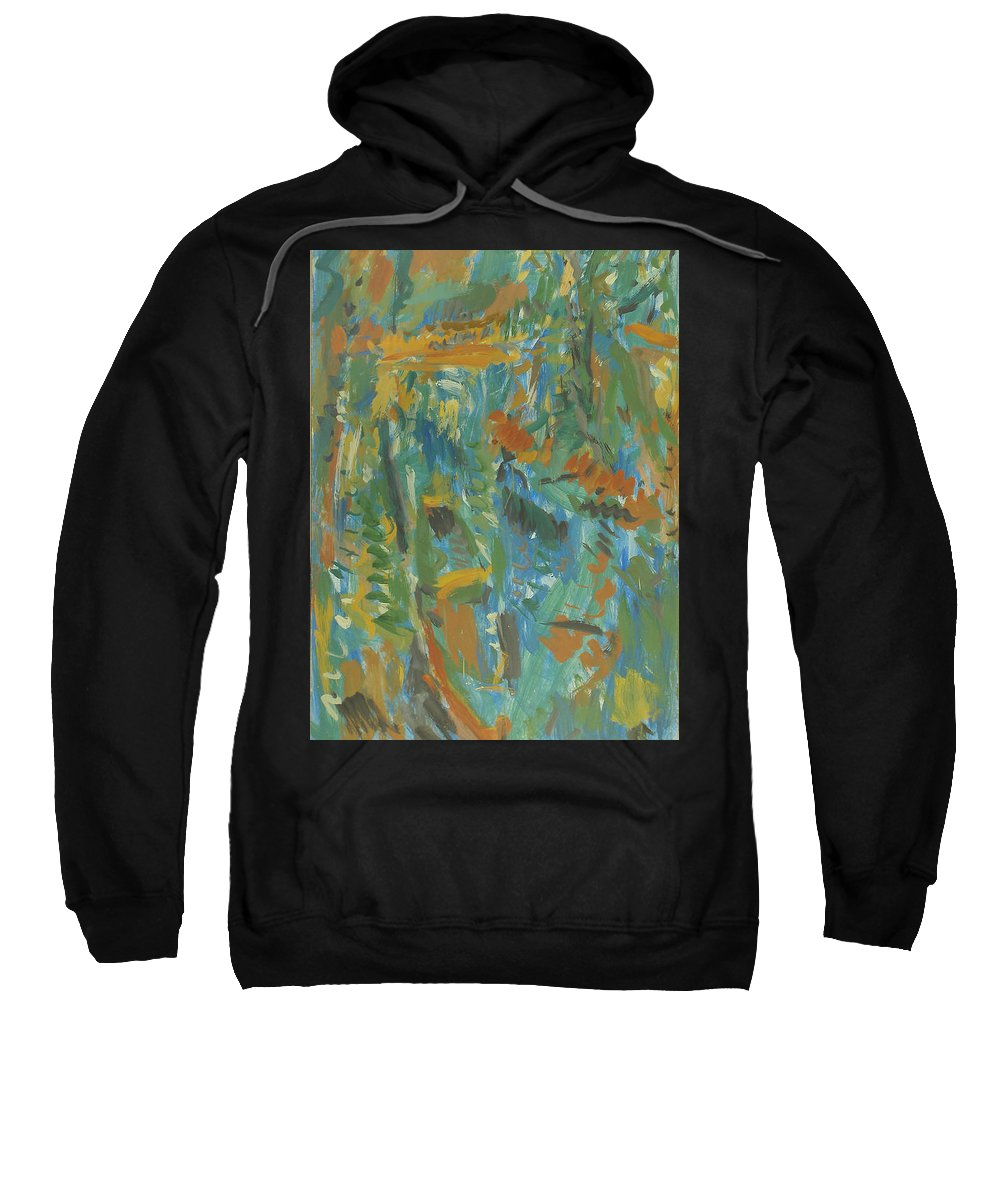 River Sweatshirt featuring the painting Boats by Robert Nizamov