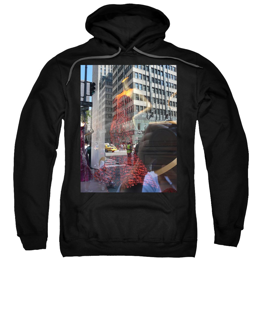 New York Sweatshirt featuring the photograph 5th Avenue by Valerie Ornstein