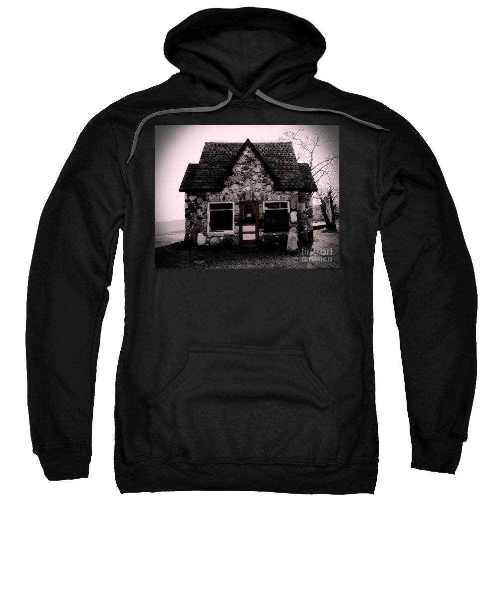 Gas Station Sweatshirt featuring the photograph 6 Corners Gas Station by September Stone