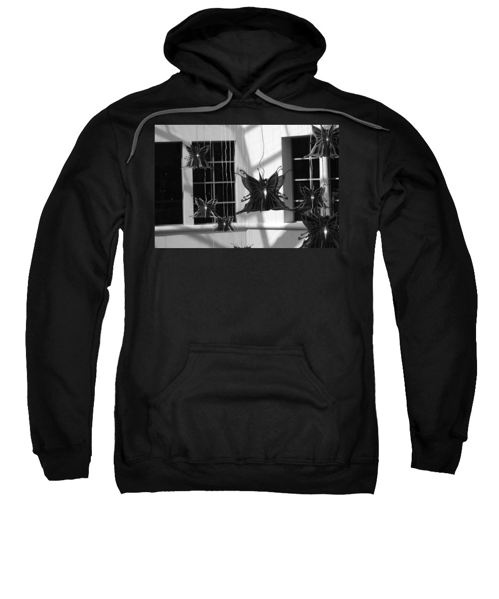 Black And White Sweatshirt featuring the photograph Hanging Butterflies by Rob Hans