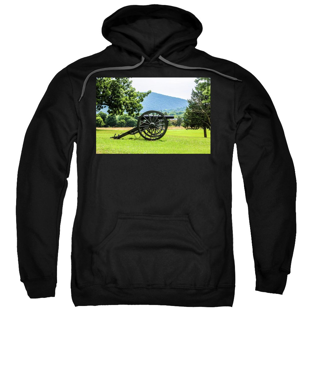 This Is A Photo Of Union Artillery At Harper Ferry Battlefield. Sweatshirt featuring the photograph Harpers Ferry by William Rogers