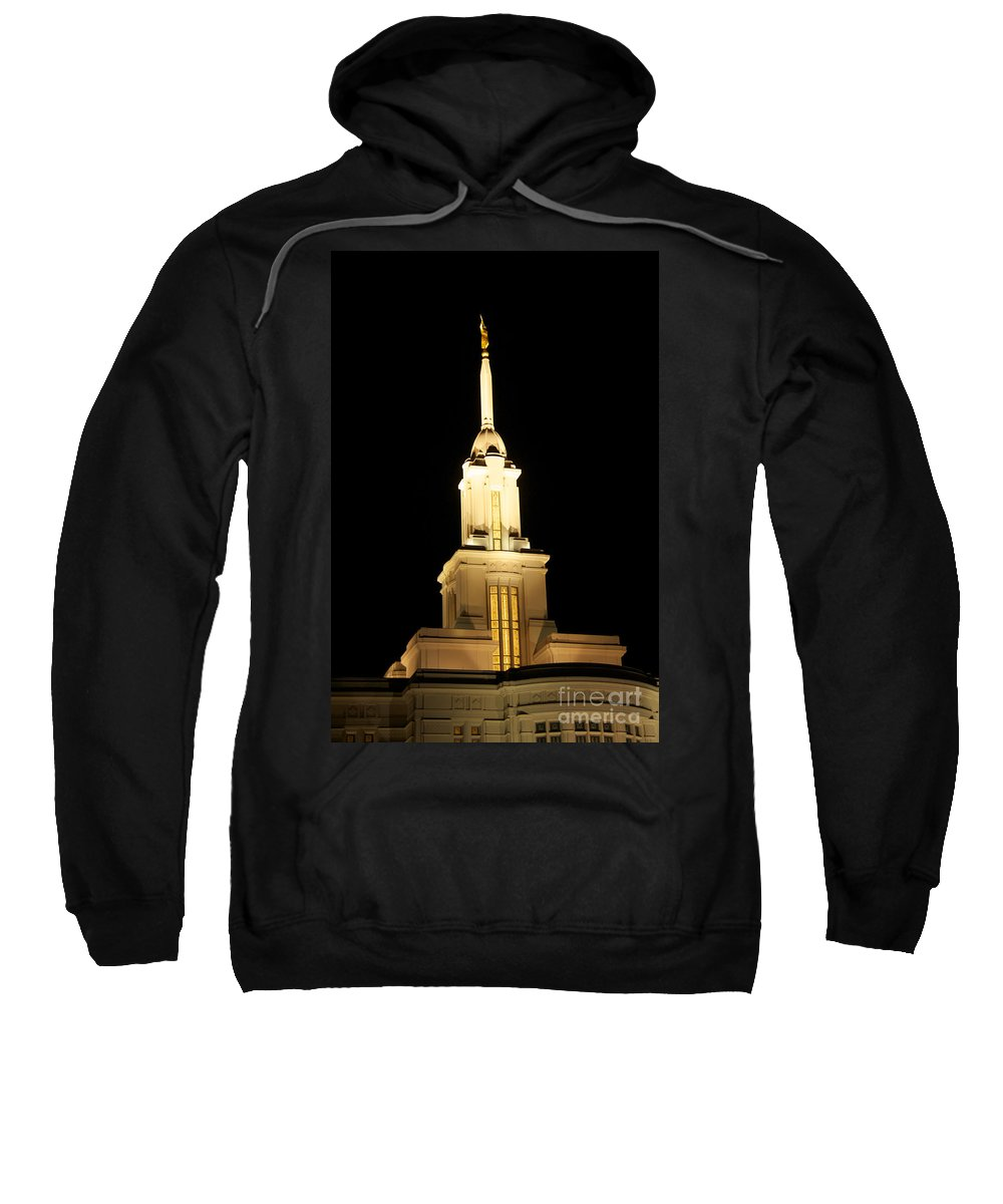 Temple Sweatshirt featuring the photograph Payson Temple by Gloria Pasko