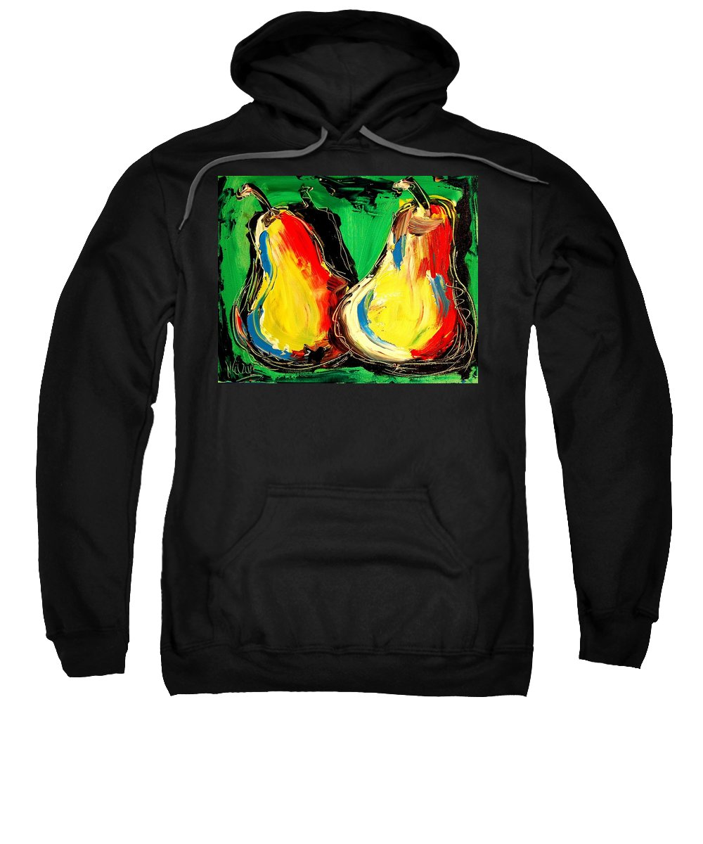 Landscape Framed Prints Sweatshirt featuring the painting Pears by Mark Kazav