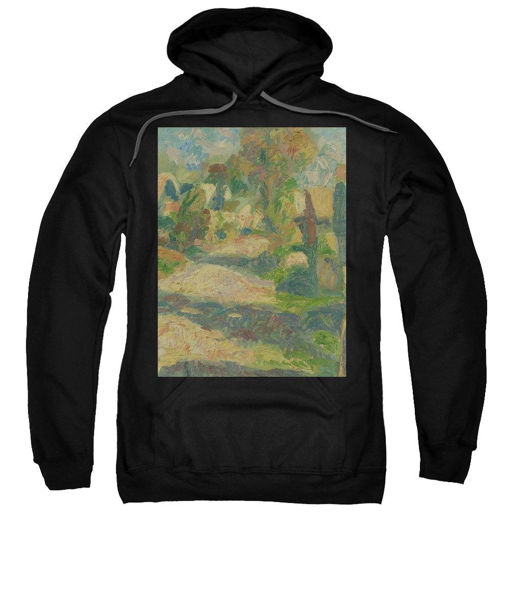 Street Sweatshirt featuring the painting Village by Robert Nizamov