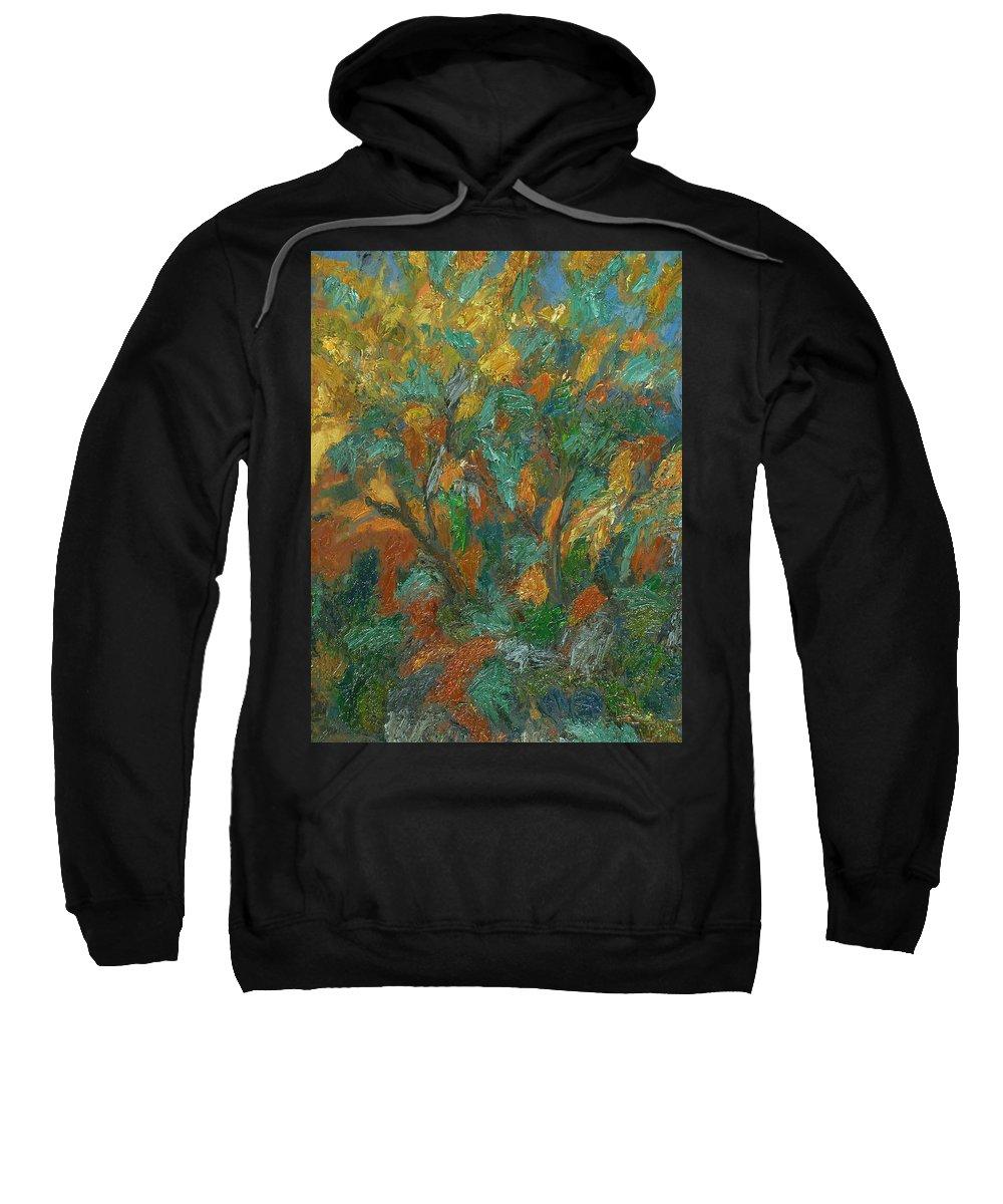 Sun Sweatshirt featuring the painting Tree by Robert Nizamov