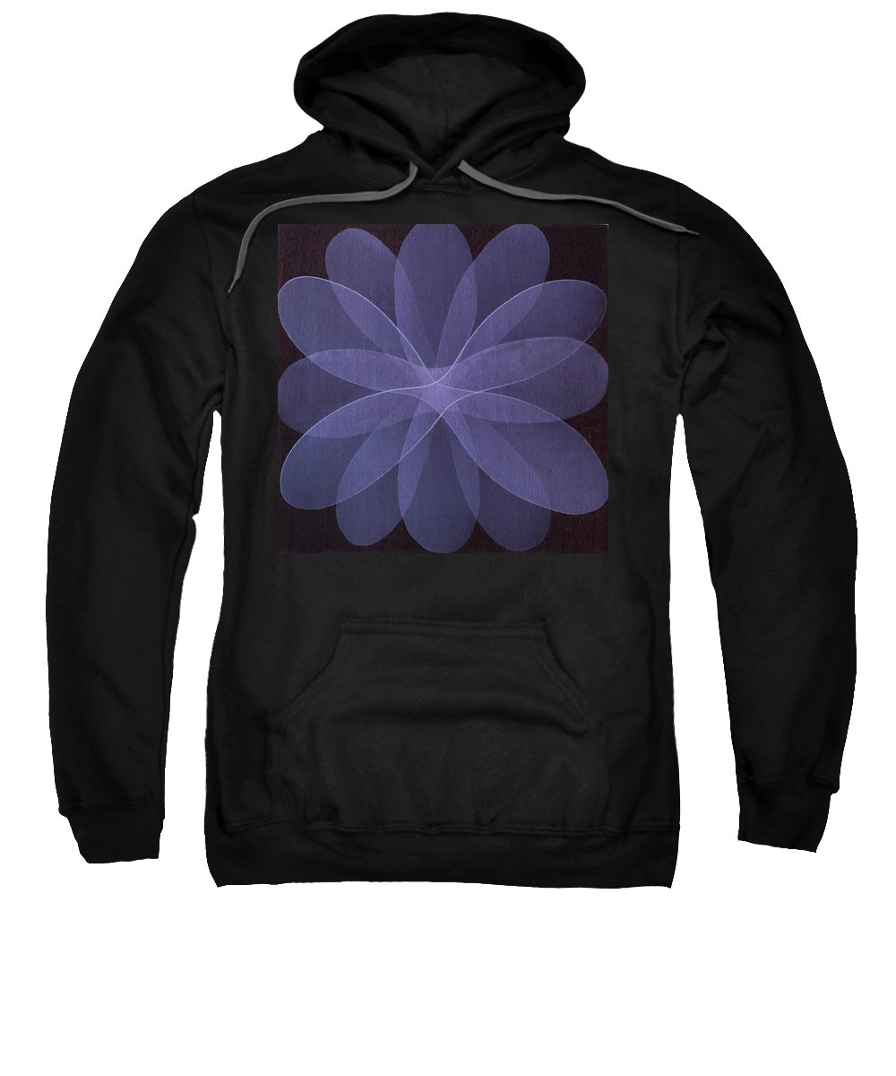 Abstract Sweatshirt featuring the painting Abstract Flower by Jitka Anlaufova