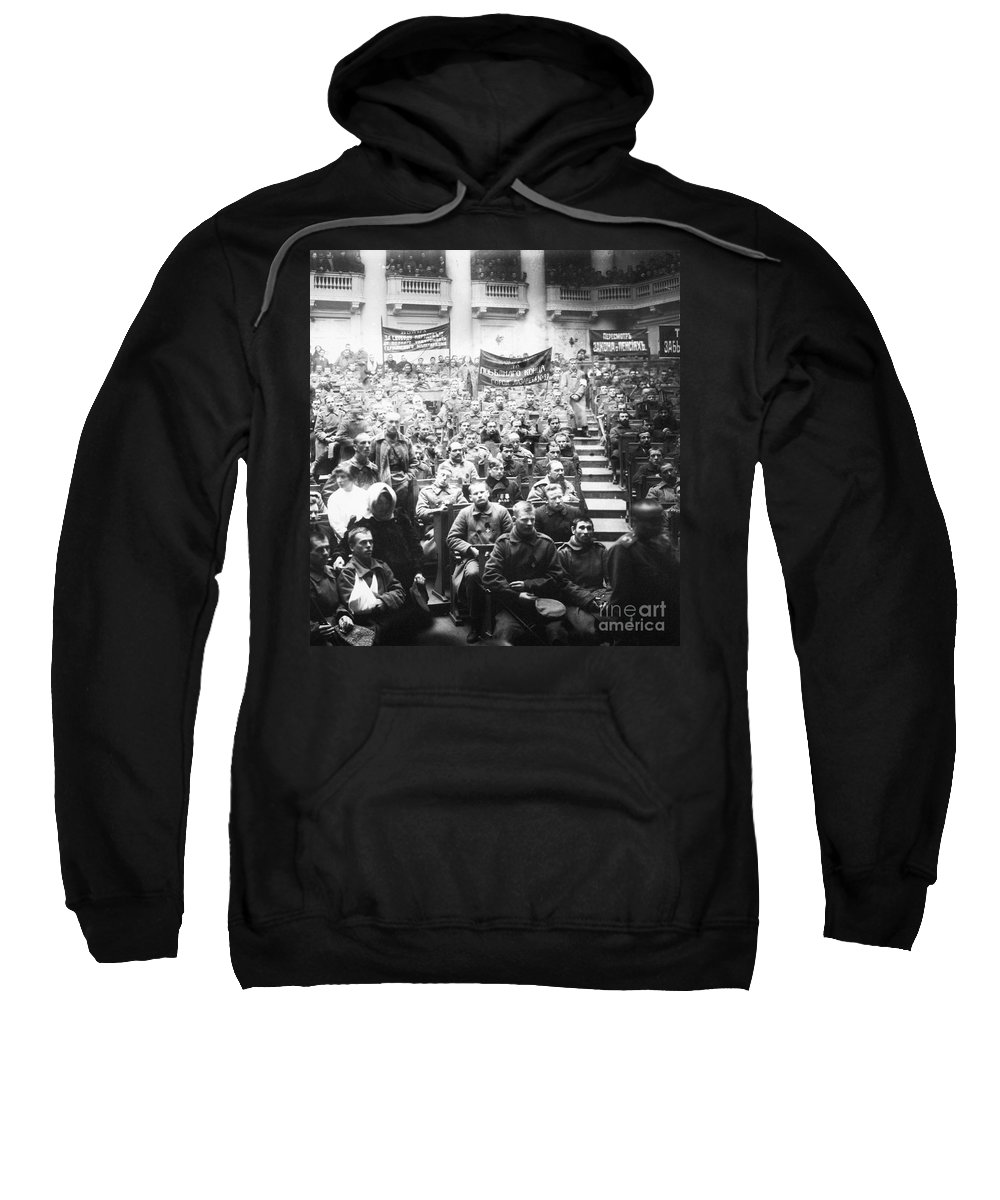 1917 Sweatshirt featuring the photograph Russian Revolution, 1917 by Granger