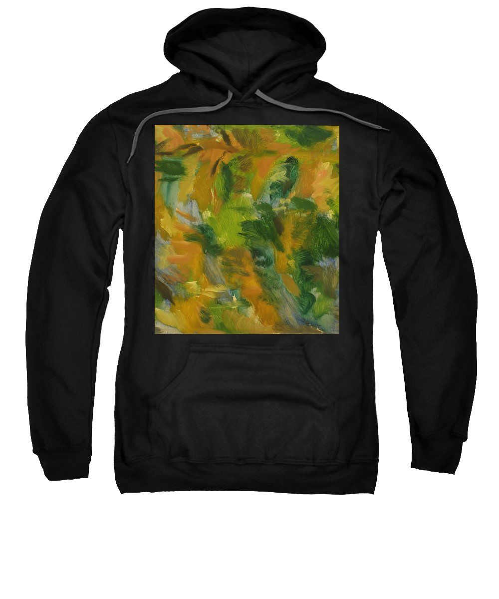River Sweatshirt featuring the painting River by Robert Nizamov