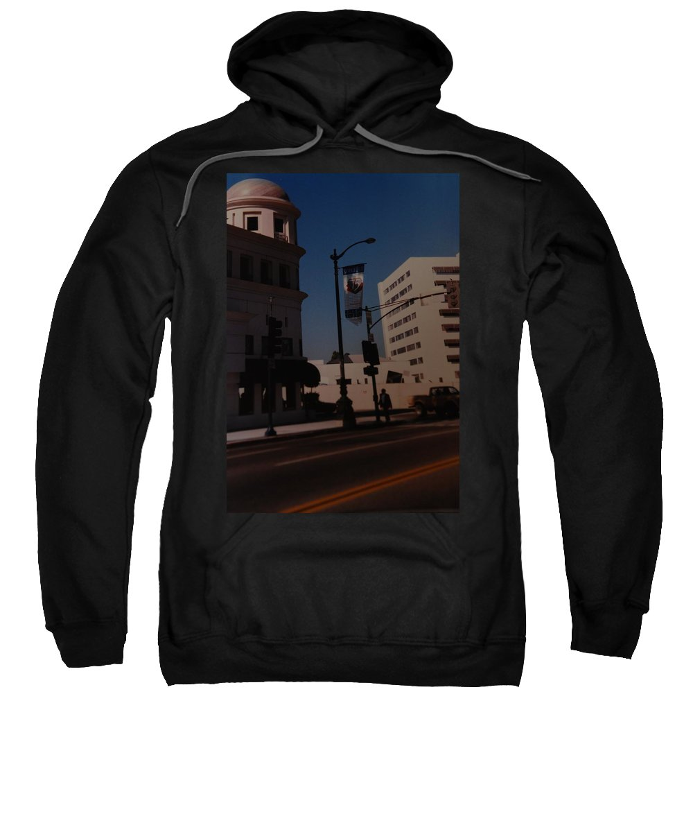 Hollywood California Sweatshirt featuring the photograph 75th Hollywood by Rob Hans