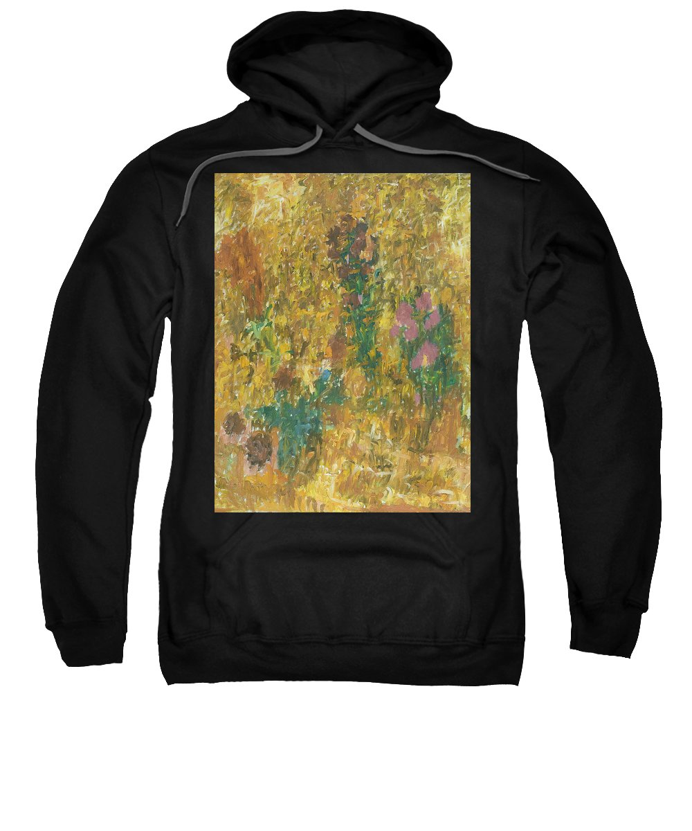 Bouquet Sweatshirt featuring the painting Flowers by Robert Nizamov