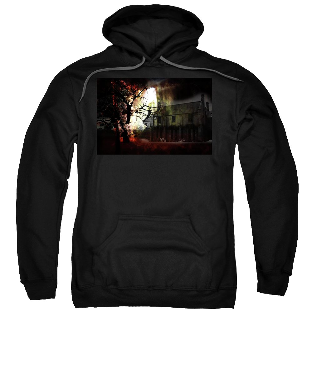 Ghost Sweatshirt featuring the digital art 8 Ghosts by Phill Petrovic