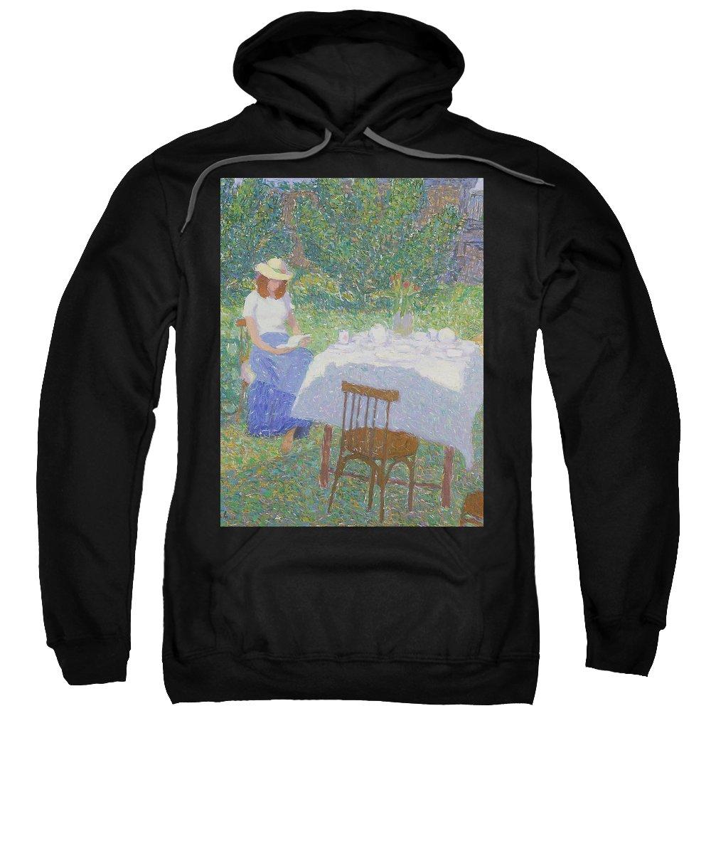 Beauty Sweatshirt featuring the painting Portrait by Robert Nizamov