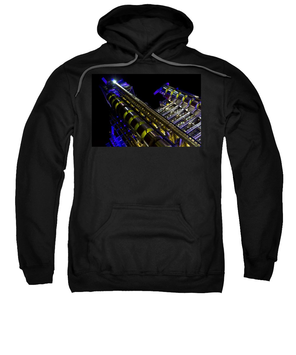 Lloyd's Sweatshirt featuring the photograph Lloyd's Building London by David Pyatt
