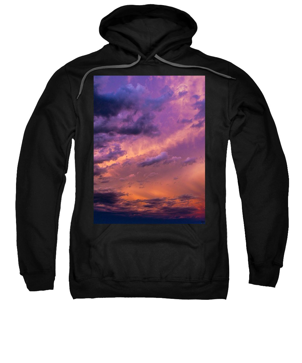 Nebraskasc Sweatshirt featuring the photograph Nebraska Hp Supercell Sunset by NebraskaSC