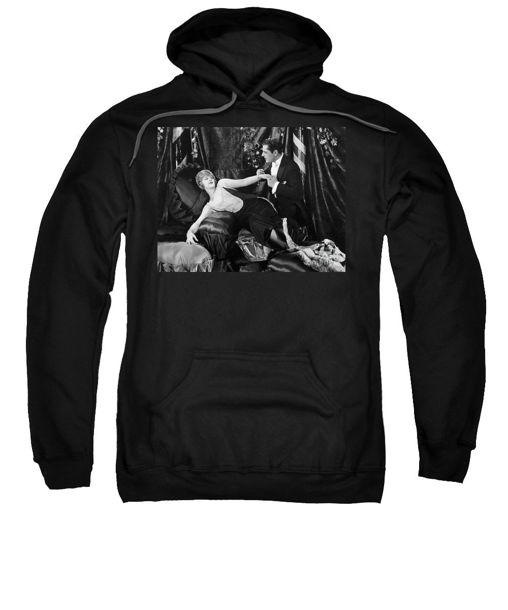 -one Man One Woman- Sweatshirt featuring the photograph Silent Still: Man & Woman by Granger