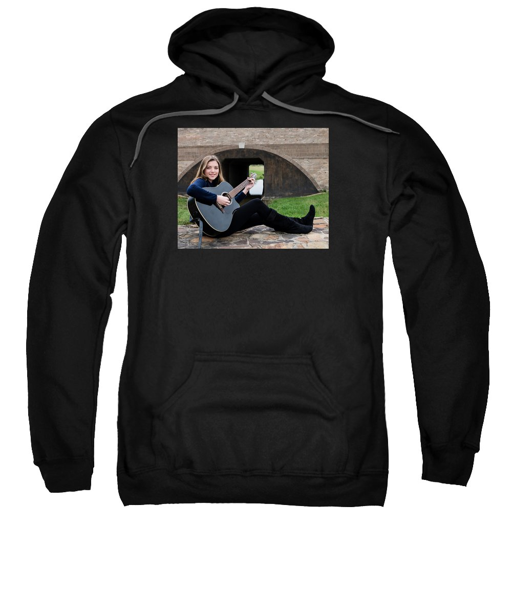 Musician Sweatshirt featuring the photograph 9527 by Teresa Blanton