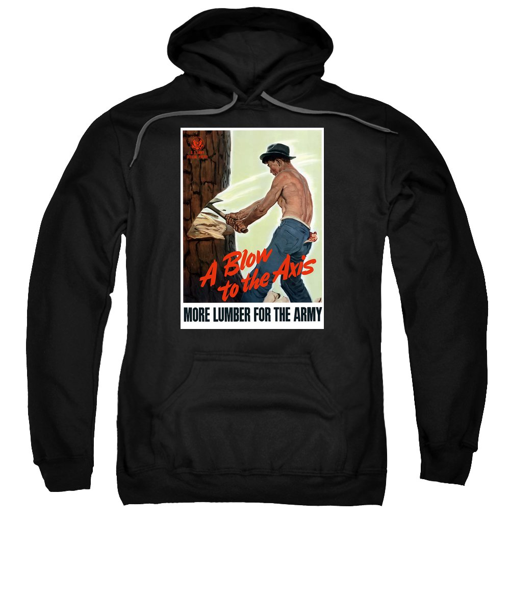 Lumberjack Sweatshirt featuring the painting A Blow To The Axis - Ww2 by War Is Hell Store