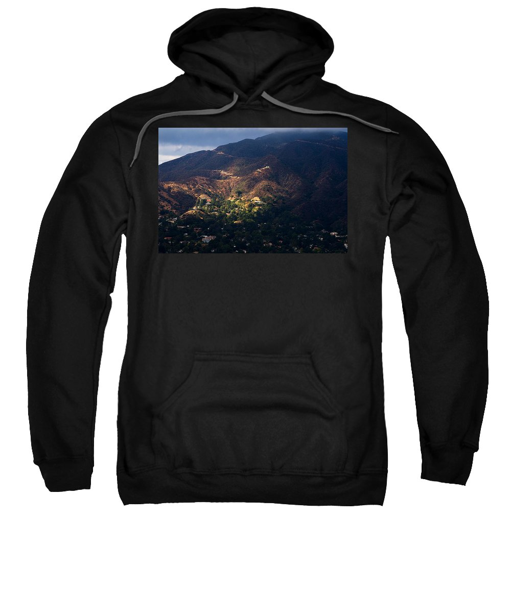 Clay Sweatshirt featuring the photograph A Break In The Clouds In Southern California by Clayton Bruster