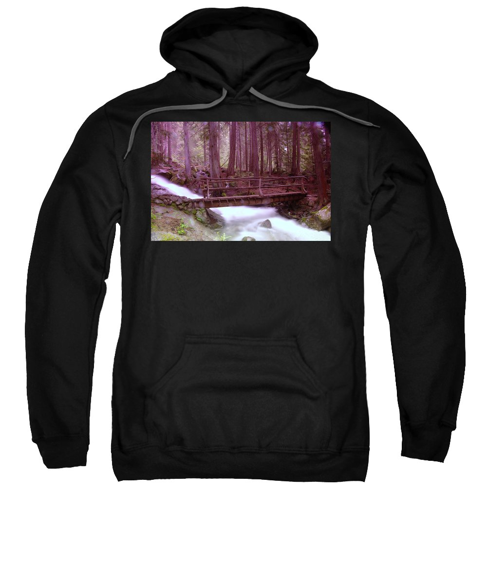 Water Sweatshirt featuring the photograph A Bridge To Paradise by Jeff Swan
