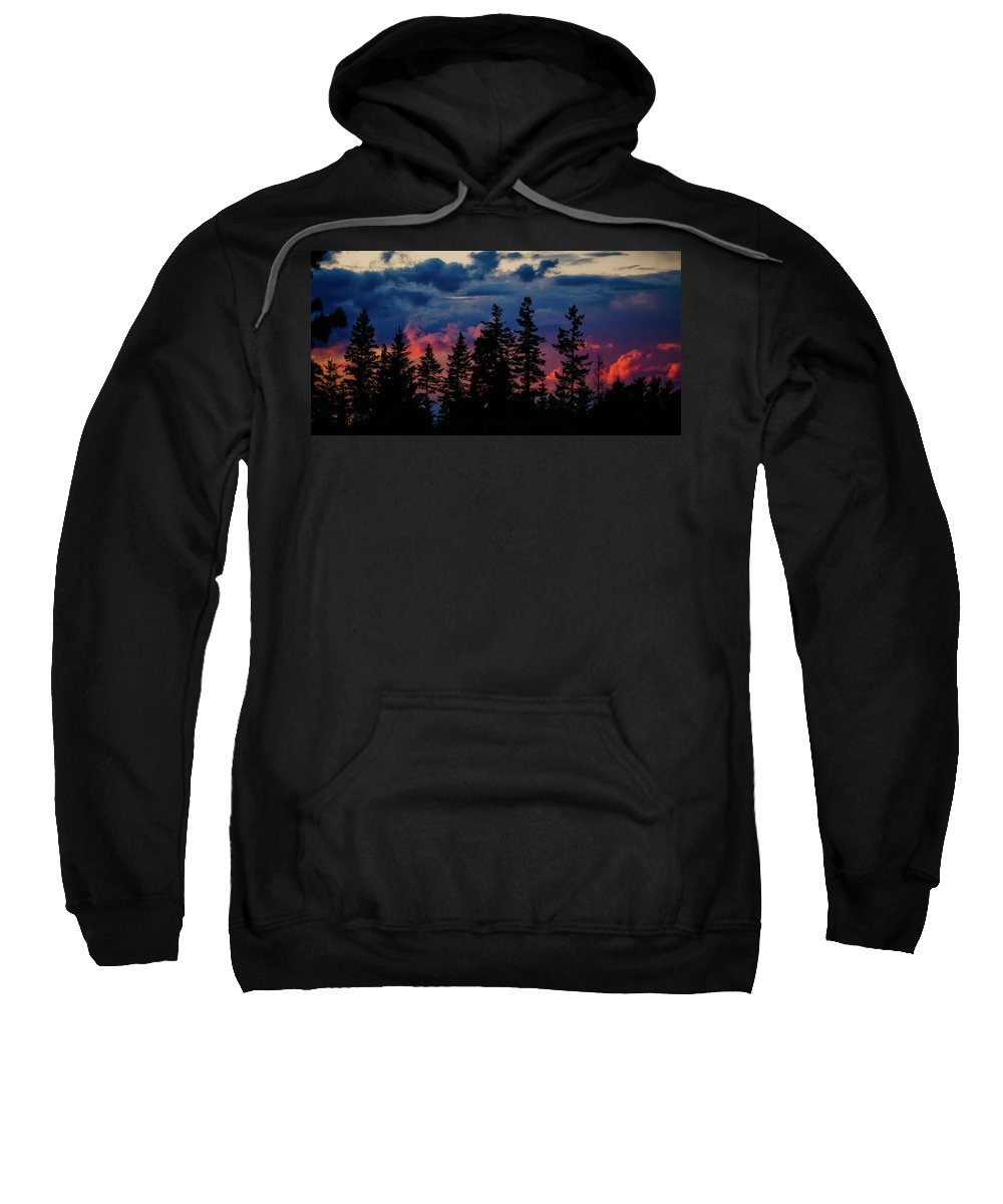 Sunset Sweatshirt featuring the photograph A Chance Of Thundershowers by Albert Seger