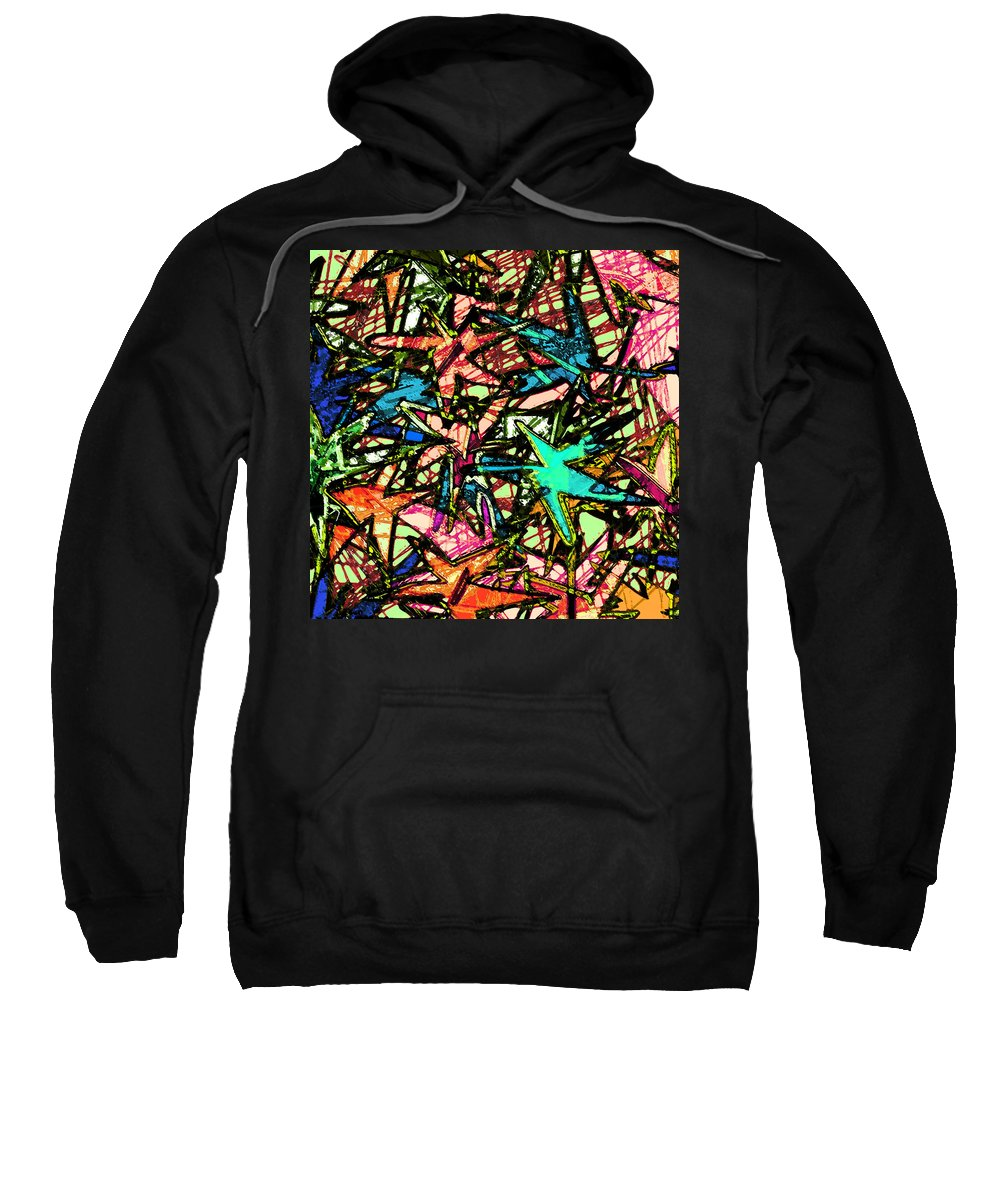 Abstract Sweatshirt featuring the digital art A Dream Shattered by Rachel Christine Nowicki
