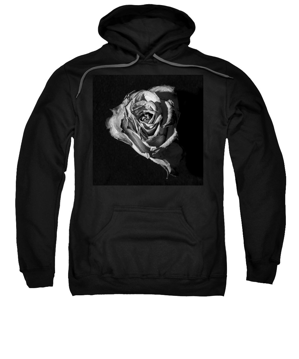 Rose Sweatshirt featuring the photograph A Fading Rose by David Stone