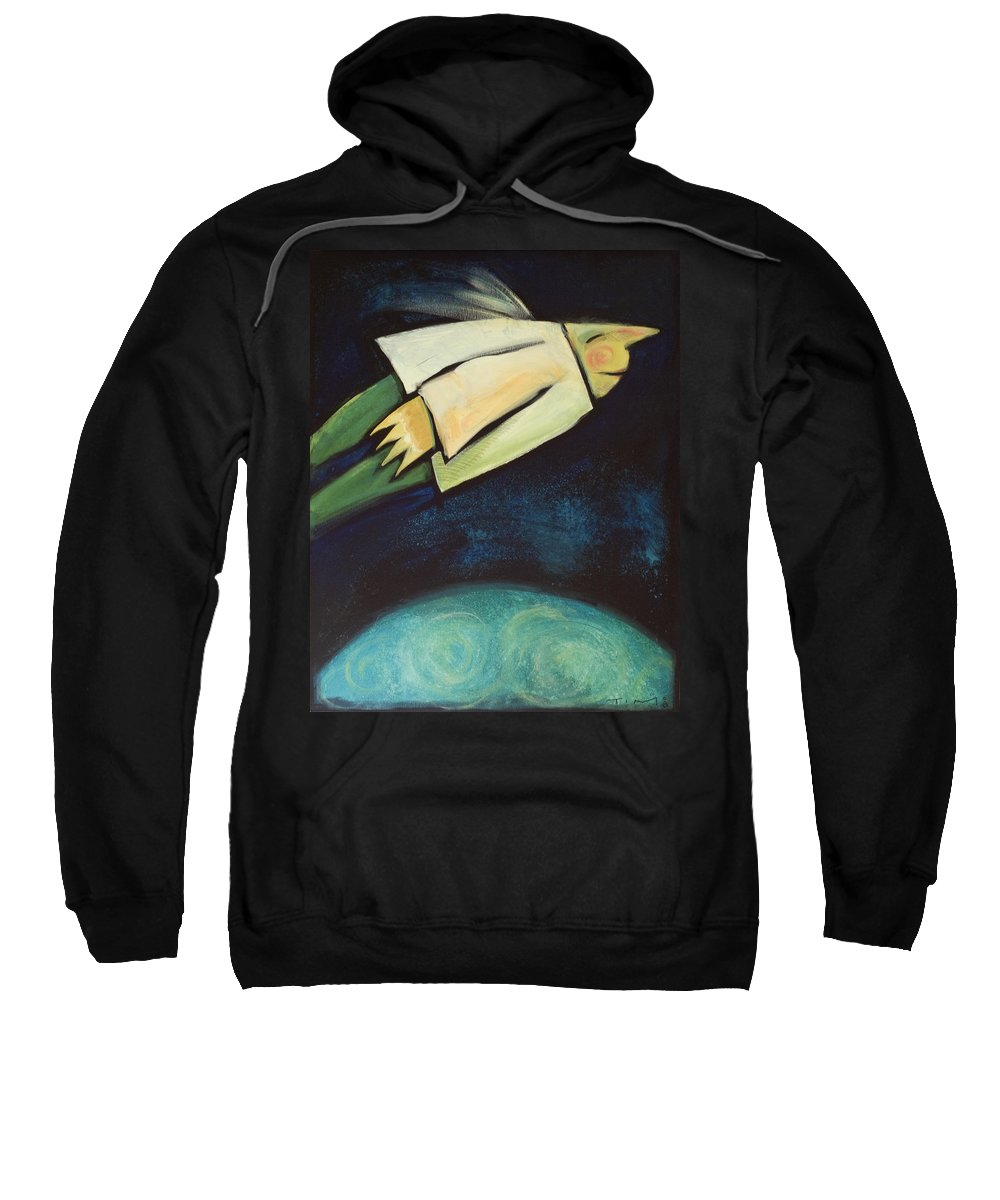 Universe Sweatshirt featuring the painting A Finger Two Dots Then Me by Tim Nyberg