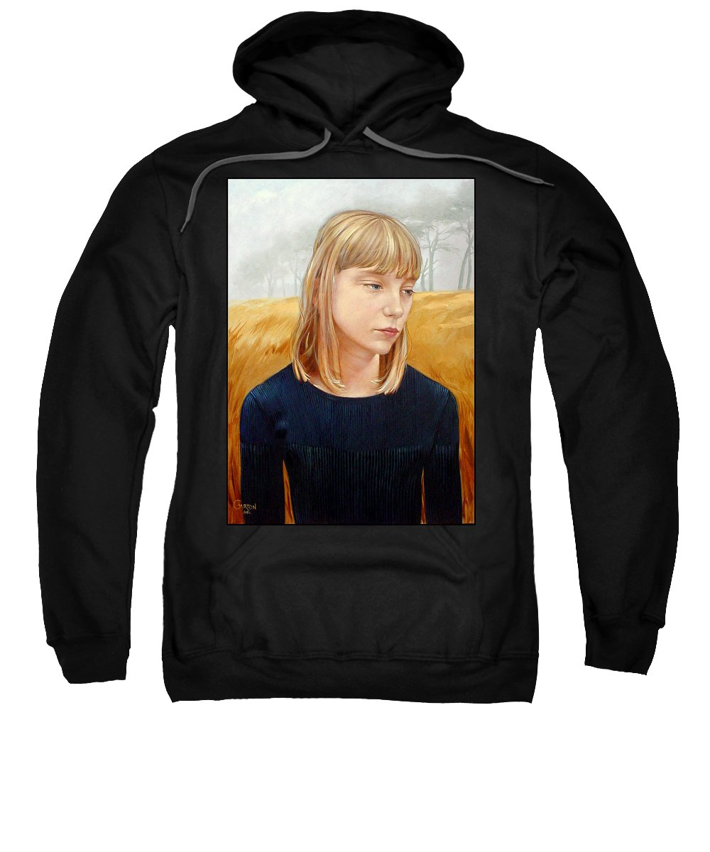 Girl Sweatshirt featuring the painting A Gang Of Crows by Jerrold Carton