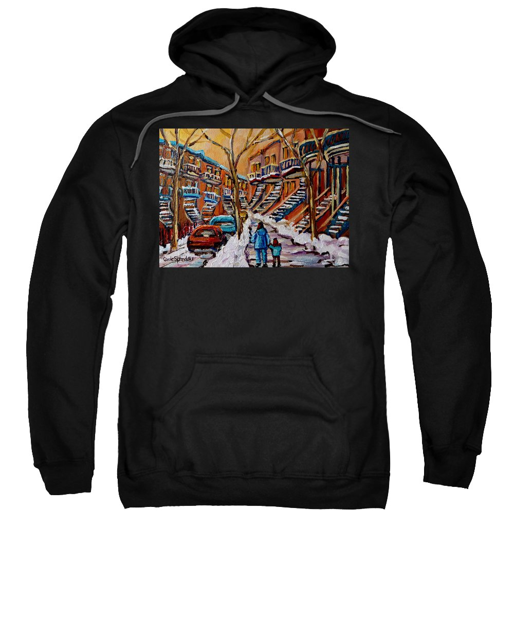 Montreal Sweatshirt featuring the painting A Glorious Day by Carole Spandau