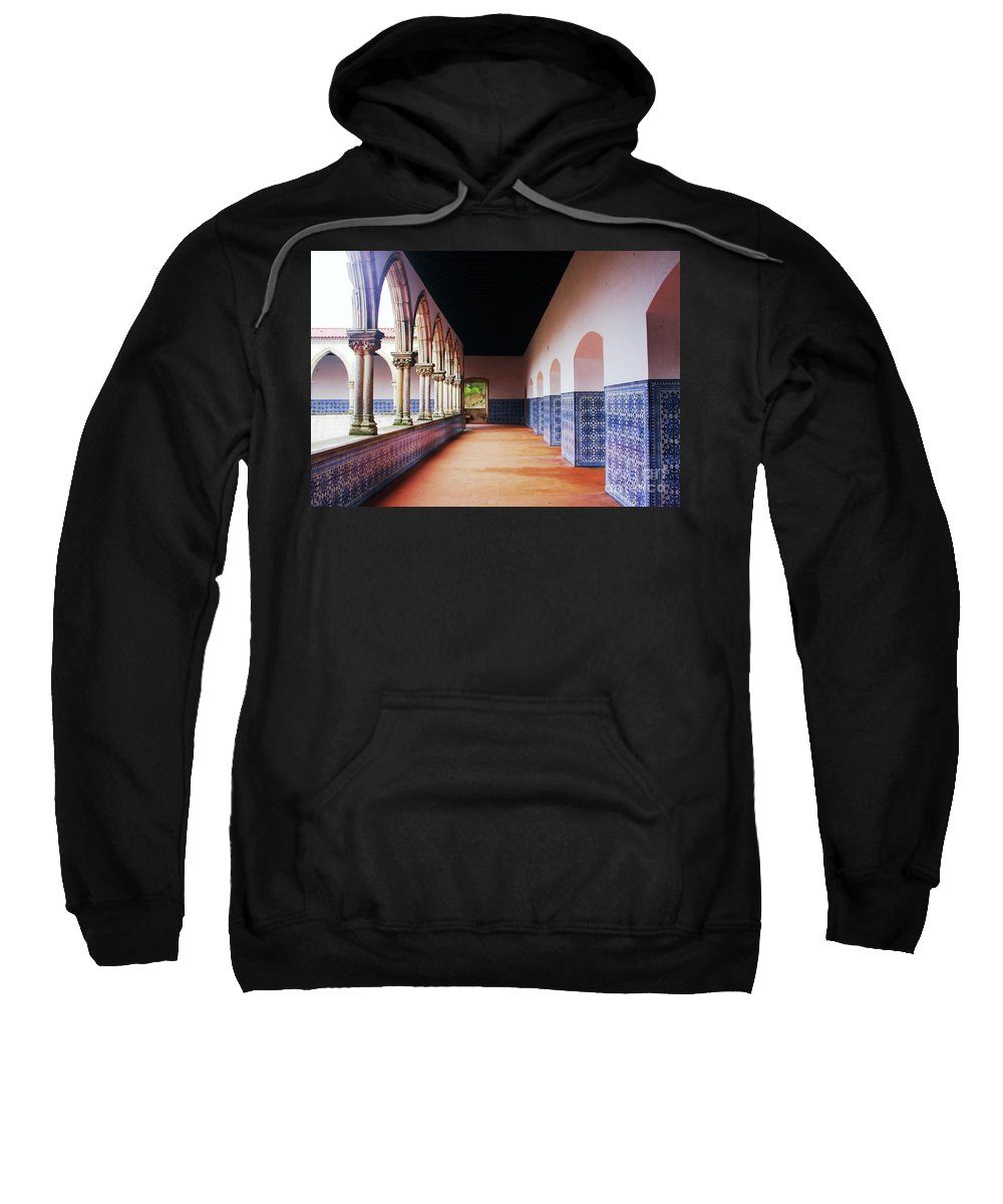 Mosaics Sweatshirt featuring the photograph A Hall With History by Raquel Daniell