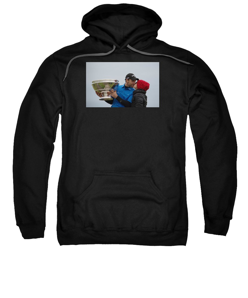 Kiss Sweatshirt featuring the photograph A Kiss For The Winner by Adrian Wale