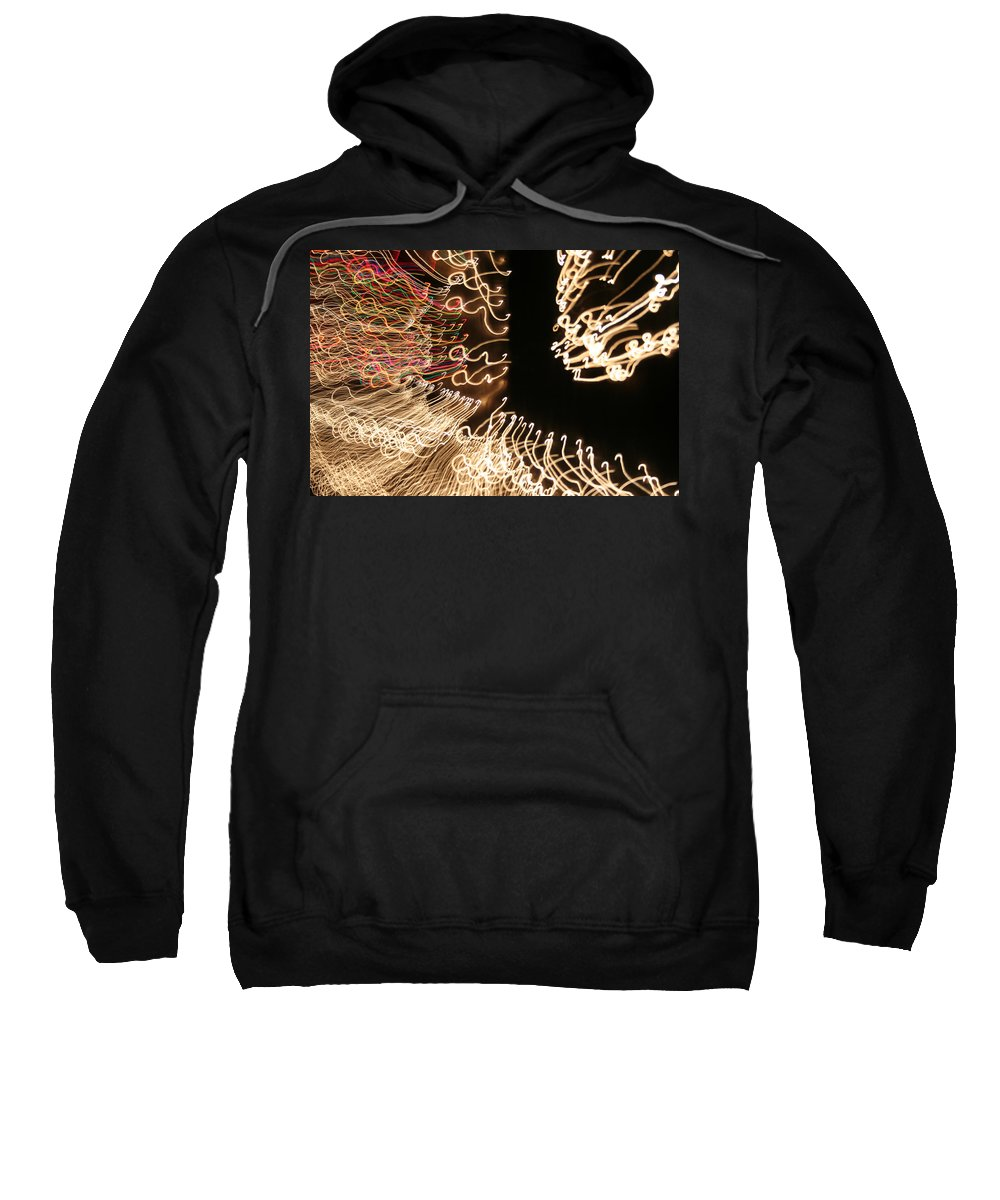 Abstract Sweatshirt featuring the photograph A Light Abstraction by Ric Bascobert