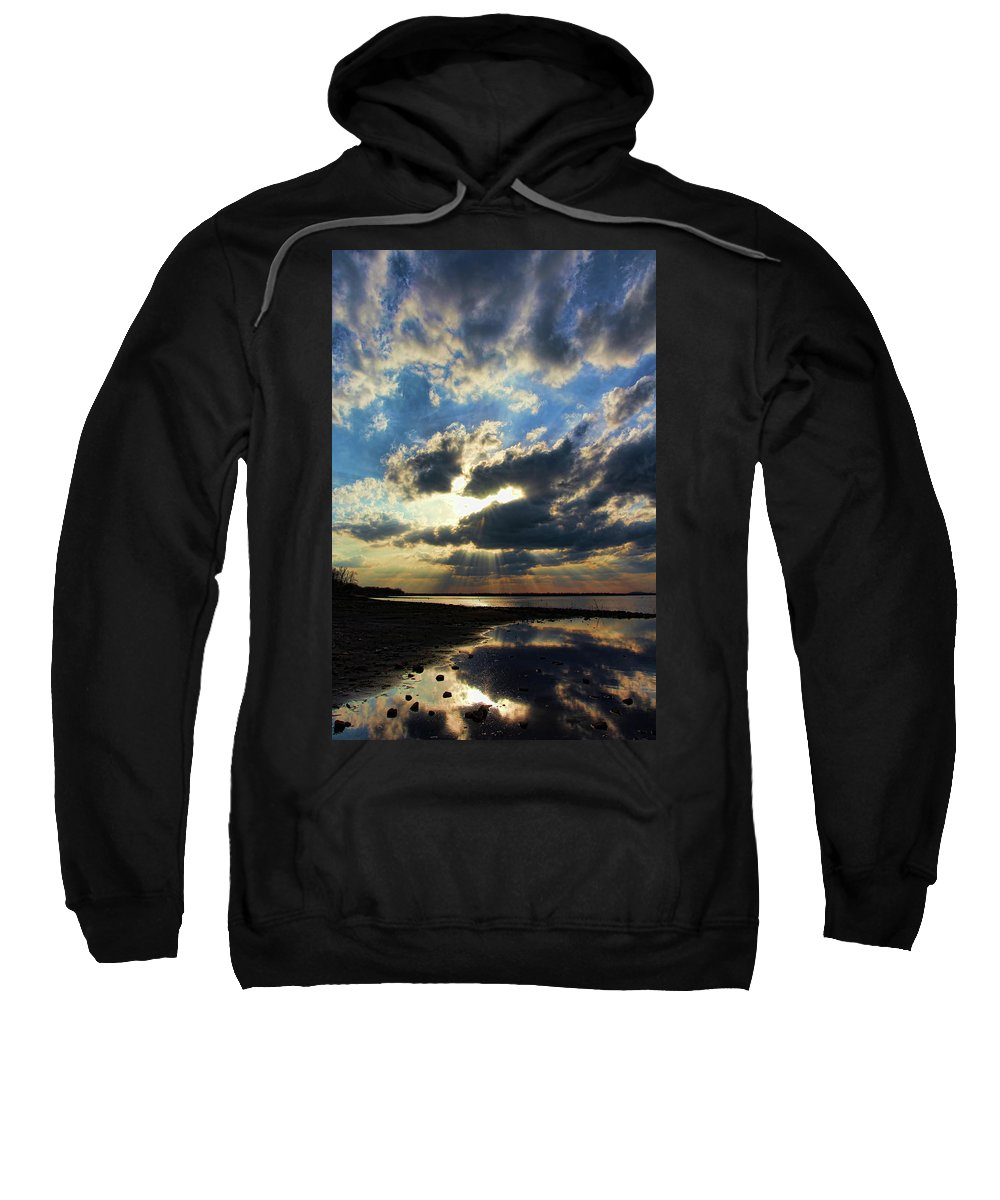 Sunset Sweatshirt featuring the photograph A Little Slice Of Heaven by Carolyn Fletcher