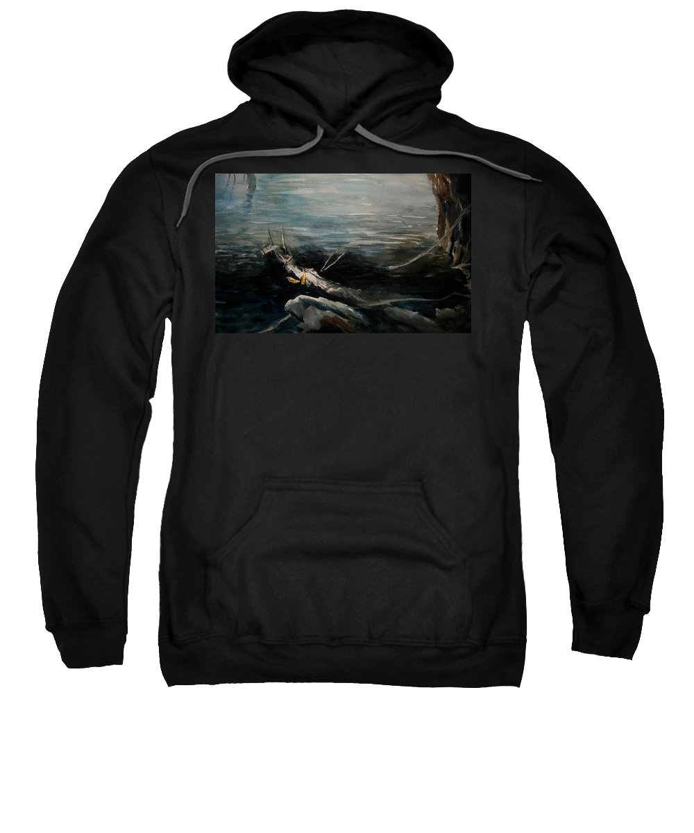 Landscape Sweatshirt featuring the painting A Moment In Time by Rachel Christine Nowicki