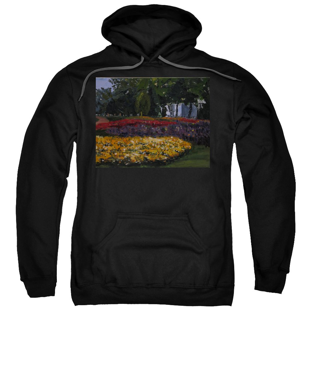 Landscape Sweatshirt featuring the painting A Park In Cambrige by Piety Choi