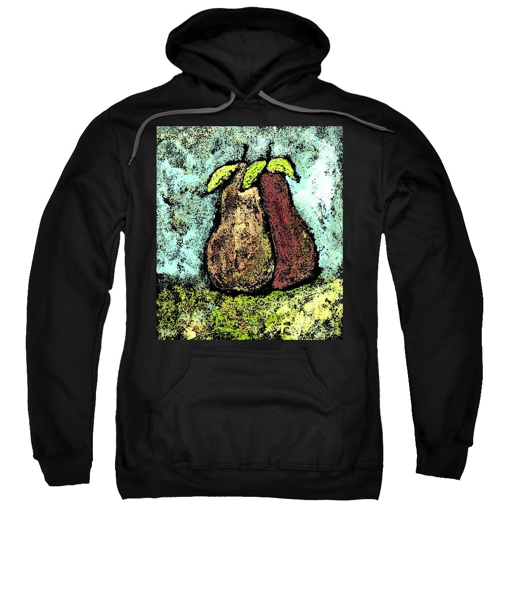 Pears Sweatshirt featuring the painting A Pear Pair by Wayne Potrafka